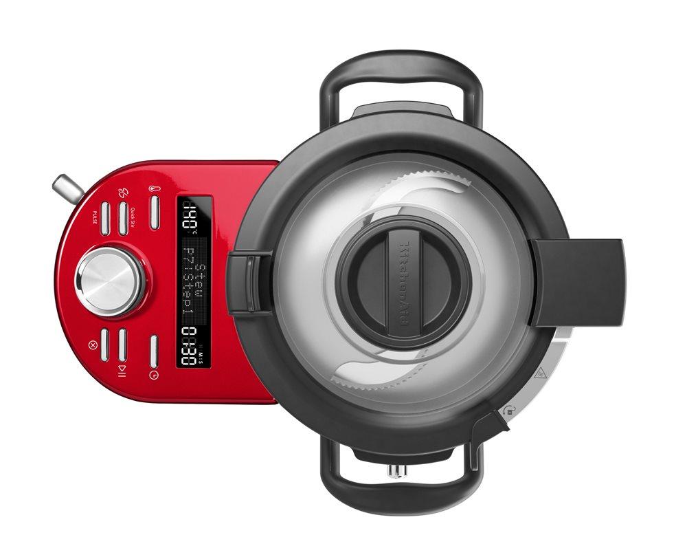 robot culinaire cuiseur tout en un rouge tom press. Black Bedroom Furniture Sets. Home Design Ideas