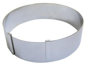 Round extendable frame for pastries