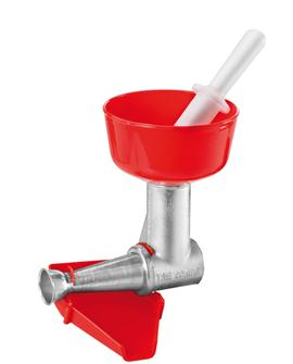 Tomato strainer accessory for type 8 Tre Spade grinder