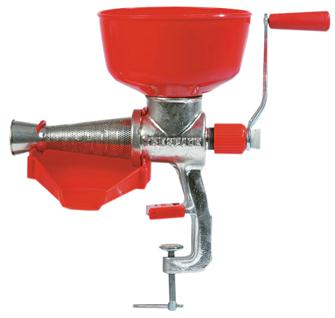 Manual cast iron manual tomato and fruit press / strainer