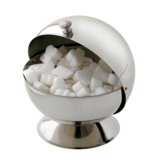 Ball-shaped sugar bowl