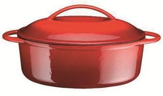 Cast iron oval casserole dish 28 cm, 2 litres