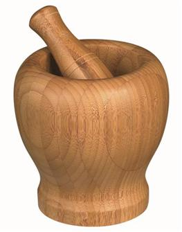 Large bamboo mortar