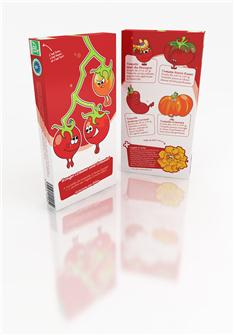"Set containing 5 varieties """"Rouge comme une tomate"""""
