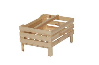 Stackable crate with blackboard