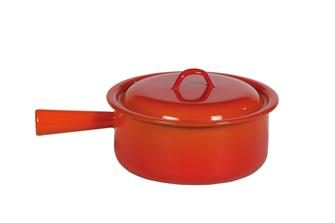 Enamelled pan with lid 22 cm