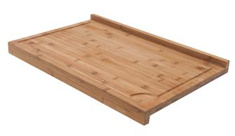 Large model bamboo chopping board with lip