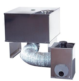 Stainless steel smokehouse - 2 levels - small model