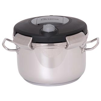 Pressure cooker with clip-on lid 6 litres