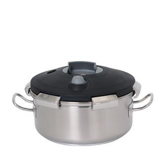 Pressure cooker with clip-on lid 10 litres