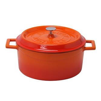 Round 24 cm orange casserole dish