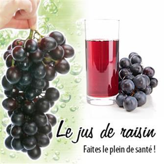 Home made grape juice. The healthy choice.