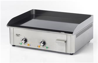 Professional electric plancha cooking plate. 60 cm, 3,500W, 10 mm enamel
