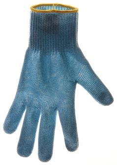 Protective glove - size 6 - with yellow piping