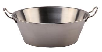 Stainless steel basin for grease and jam 38 cm