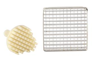 Grid and pusher 8 mm for professional chip cutter