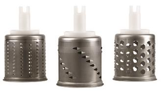 3 graters for the vegetable slicer accessory