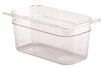 BPA free gastronorm container 1/3 in copolyester. Height 15 cm.