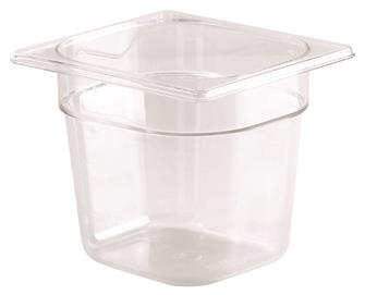 BPA free gastronorm container 1/6 in copolyester. Height 15 cm.