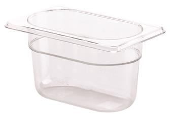 BPA free gastronorm container 1/9 in copolyester. Height 10 cm.