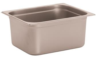 Stainless steel gastronorm container 1/2. Height: 15 cm EN-631