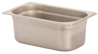 Stainless steel gastronorm container 1/4. Height: 10 cm EN-631