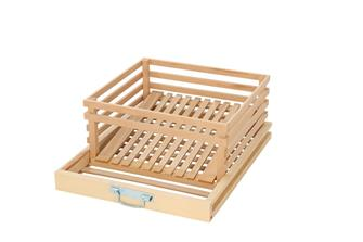 Special potato drawer for fruit and vegetable storage cabinet.