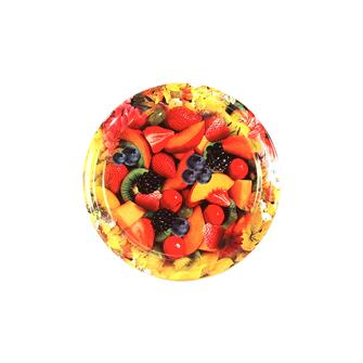 Twist-off lids with flower and fruit décor - 63 mm by 10