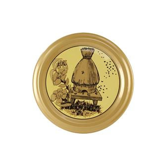 Straw beehive honey jar twist off lids - 63 mm by 10