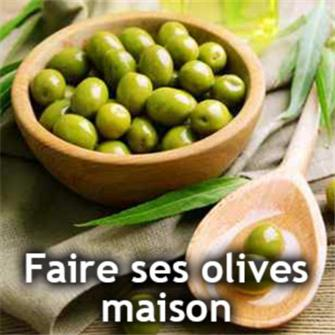 Green olives at home