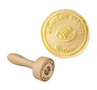 """""Home churned butter"""" stamp"