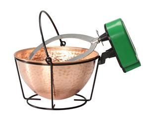 Copper cauldron with mixer 3 litres