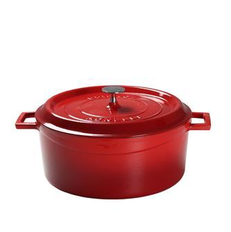 Round casserole dish - 32 cm - red