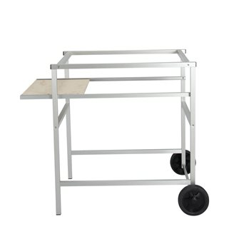 Trolley for pizza oven