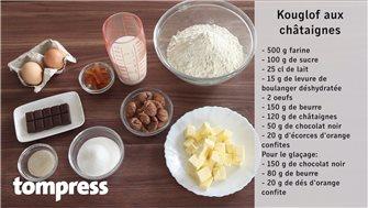 Video recipe for a chestnut kouglof