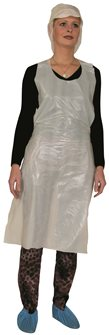 Polythene disposable apron 120x70 cm per 100