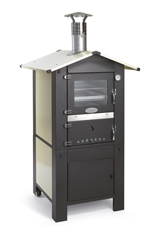 Wood oven measuring 57x42 cm with a separate hearth on a trolley