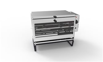 Horizontal electric rotisserie spit