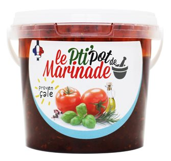 Tub of liquid marinade - Provençale