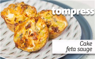 Feta and sage salted muffin cakes recipe