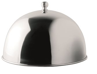 Cloche covers flat stainless steel diameter 24.5 cm