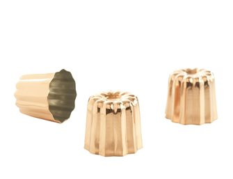 Small Bordelais copper fluted molds by 6
