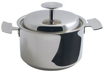 Baumstal stainless induction cooking pot 24 cm with lid