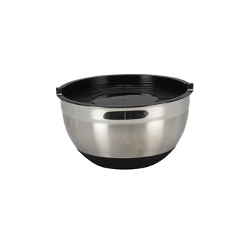 Pastry bowl stainless steel silicone 24 cm with lid