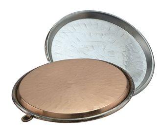 Copper socca dish 50 cm