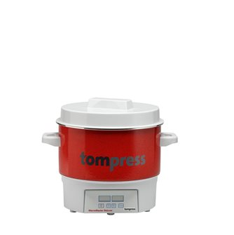 Digital enamelled Tom Press steriliser - small model - 16 litres