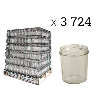 Jam pots 12 ribs 324 ml per pallet of 3724