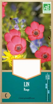 Organic red linum seeds