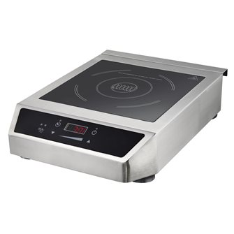 Single induction plate 3500 W stainless steel