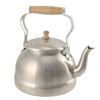 3.5 liter aluminum kettle with wooden handle